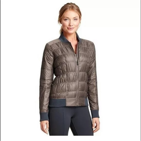 Athleta Jackets & Blazers - Athleta Donny Down Bomber Zip Front Jacket M